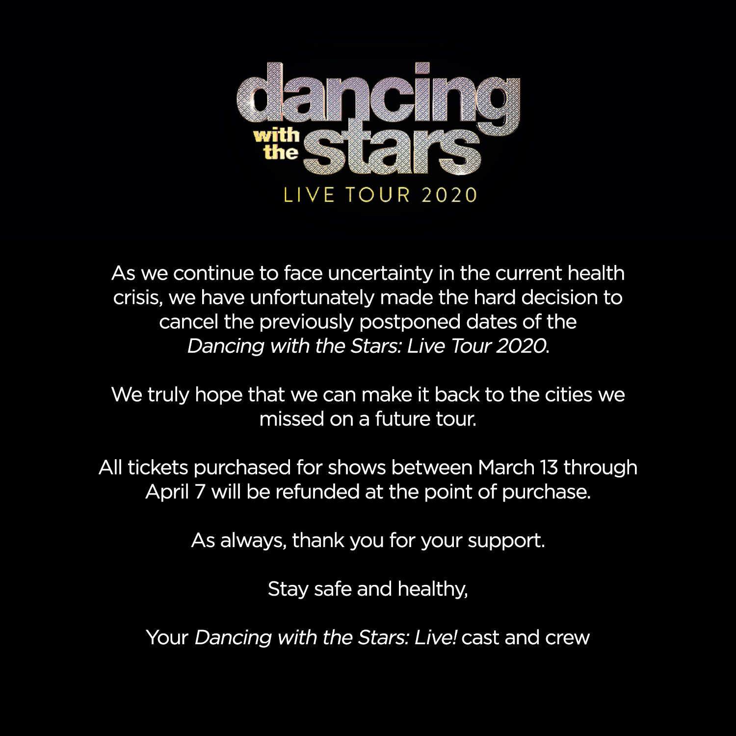 Dancing With The Stars Live 2020 Tour Dances Across The Us And Canada This Winter